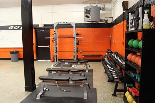 TA Dugger renovated fitness room