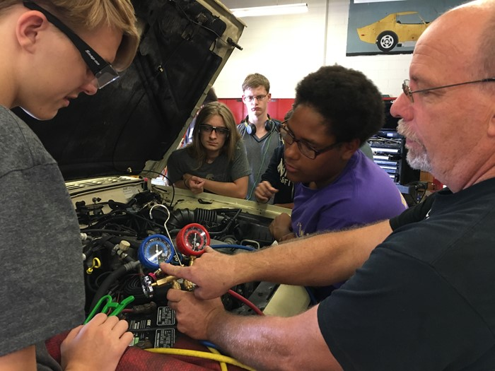 Automotive engine repair with Mr. Linberg